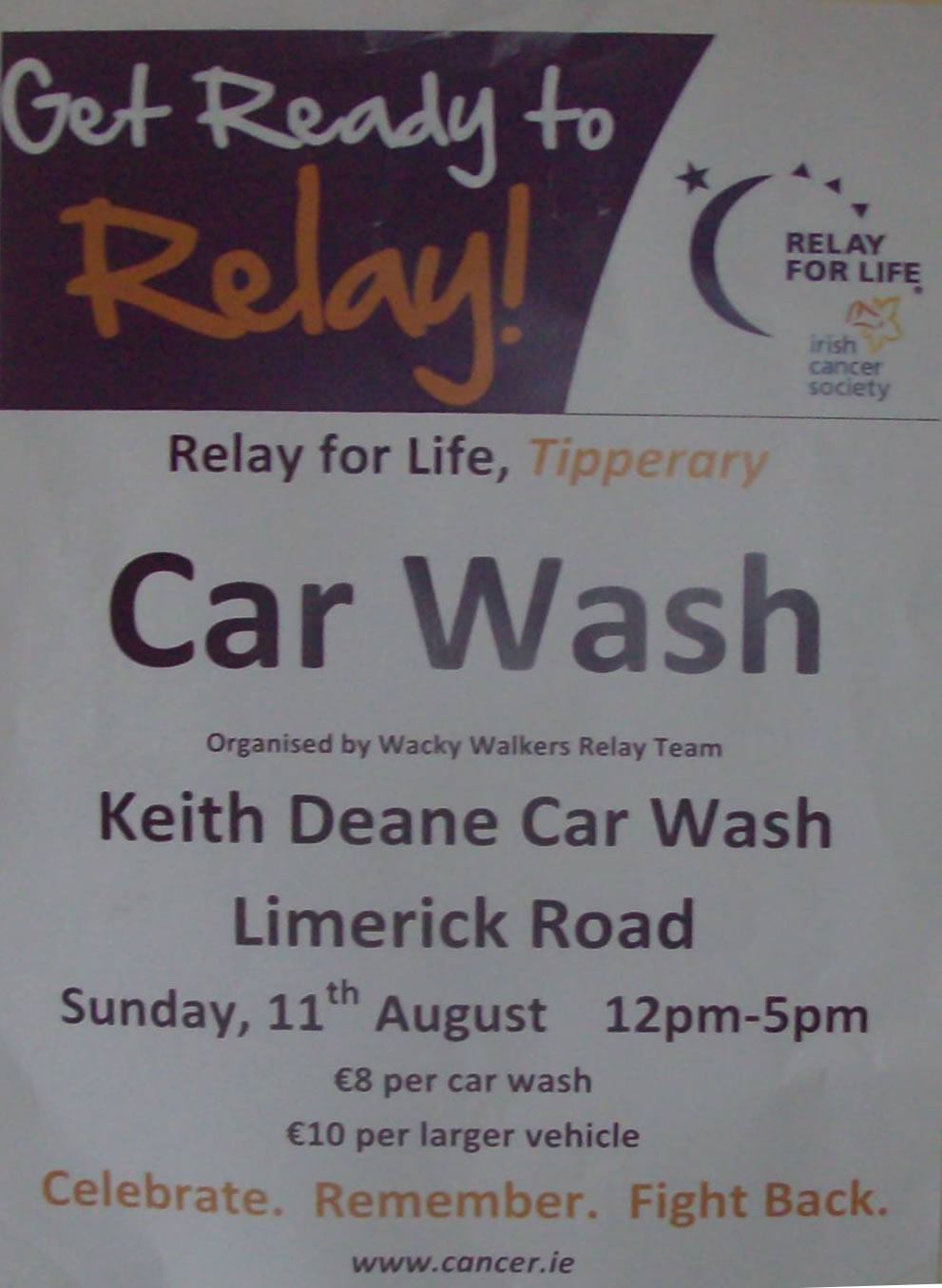 Relay for Life Car Wash Fundraiser | Nenagh.ie