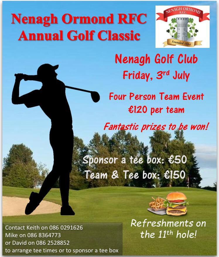 Nenagh Ormond RFC Annual Golf Classic