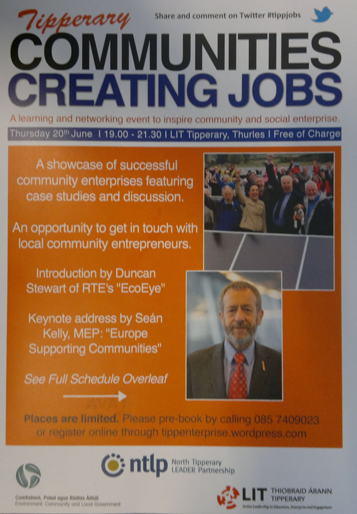 Thursday 20th June 7.00pm LIT Tipperary, Thurles